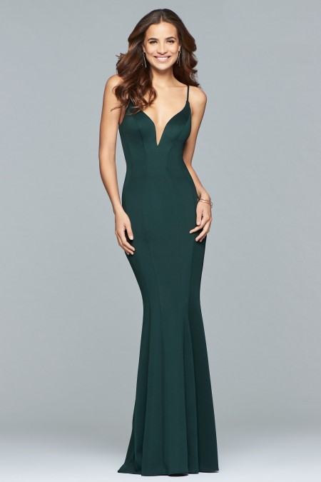 Arriving December - Jersey backless dress with side cut outs