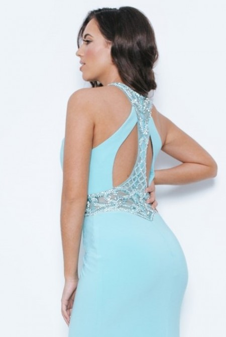 REDUCED - Sophisticated prom dress with embellished cutout back