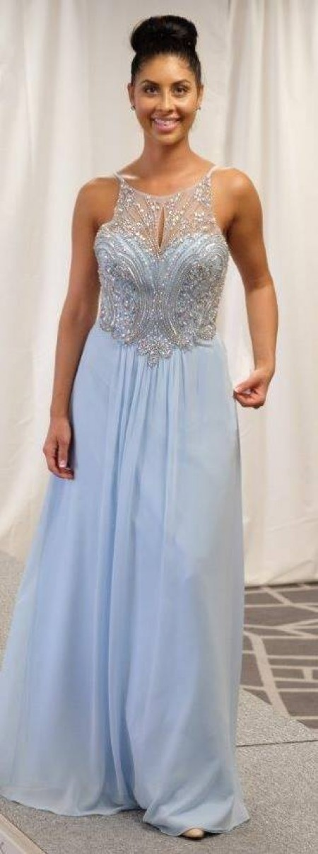 Chiffon, a-line prom dress
