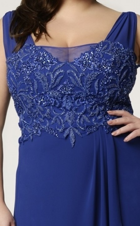PLUS SIZE lace & soft tulle evening dress