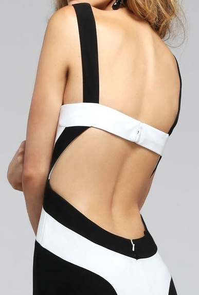 Arriving very soon - black & white, backless jersey ...