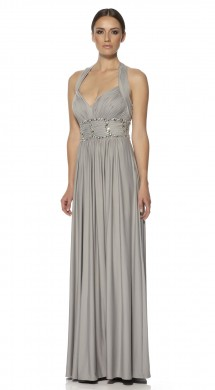 Elegant evening dress in jersey. Evening Dress