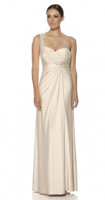 Full length dress in slinky jersey. Evening Dress