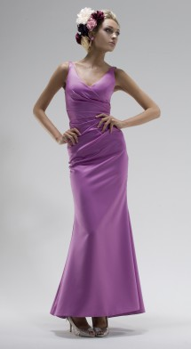 Stylish v-shaped neckline evening dress. Evening Dress