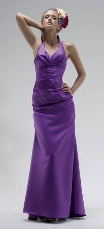 Classic halter-neck dress. Evening Dress