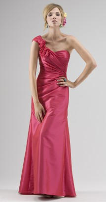 One-shoulder taffeta evening/bridesmaid dress. Evening Dress