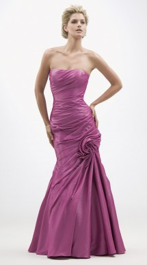 Strapless taffeta evening dress. Evening Dress
