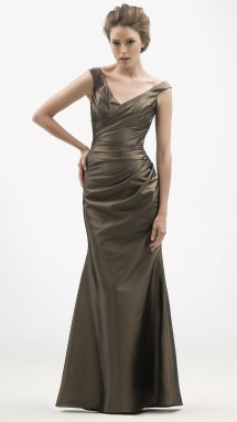 Timeless fluted taffeta evening gown. Evening Dress