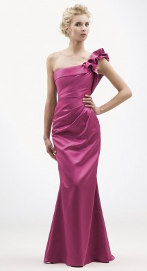 One shoulder satin evening/bridesmaid/prom dress. Evening Dress