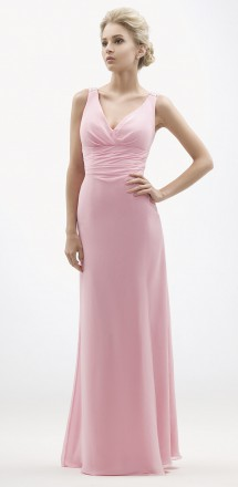 Elegant v-neck A-line chiffon evening gown. Evening Dress