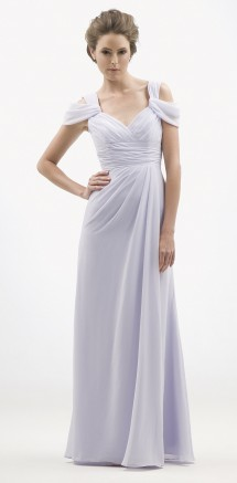 Grecian inspired A-line chiffon evening or bridesmaid dress. Evening Dress