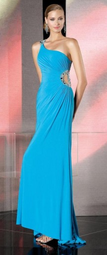 One shoulder cut-out evening dress Evening Dress