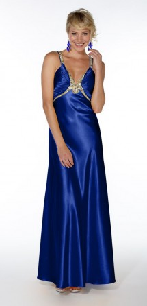 Backless satin evening/prom dress Evening Dress