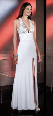 Sequinned a-line jersey evening dress Evening Dress