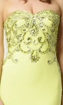 Strapless sequinned jersey evening gown Prom Dress