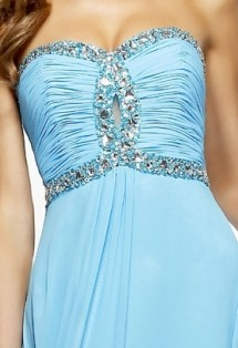 Strapless chiffon prom dress with lace-up back Prom Dress